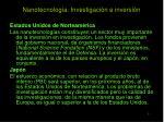 nanotecnolog a investigaci n e inversi n