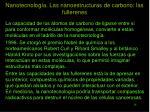 nanotecnolog a las nanoestructuras de carbono las fullerenes