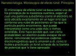 nanotecnolog a microscopio de efecto t nel principios