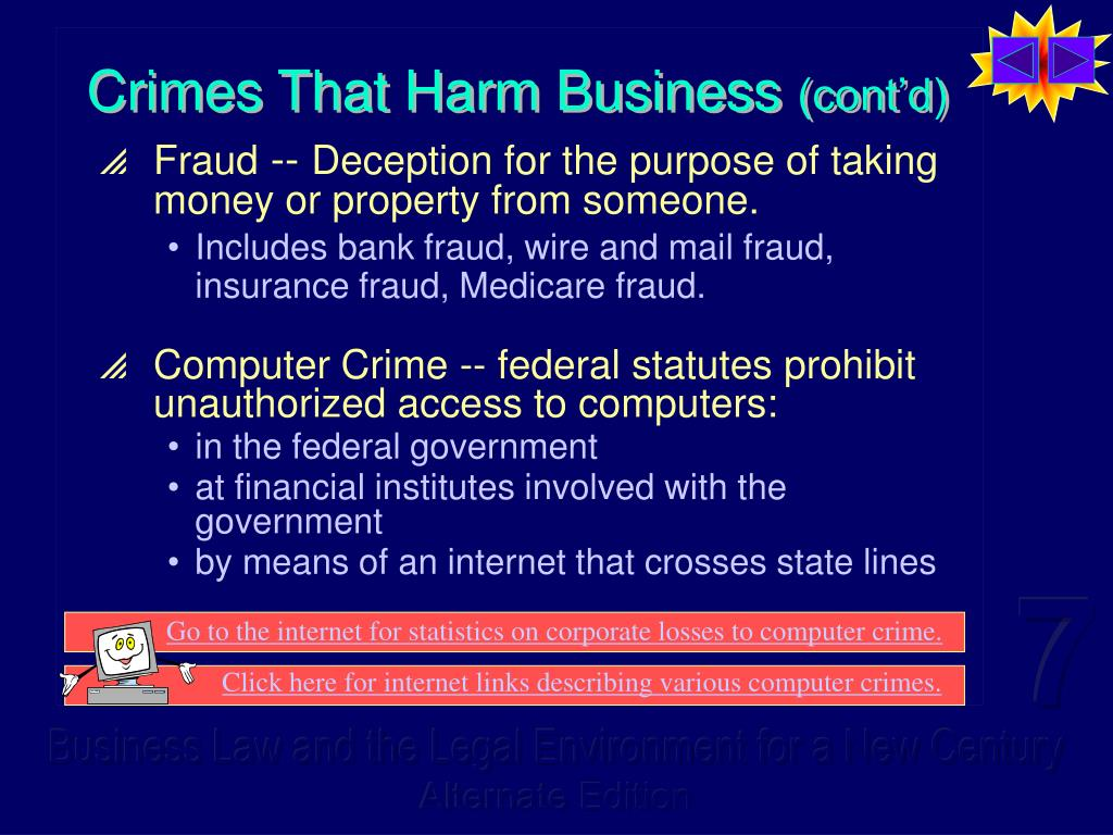 Crimes That Harm Business