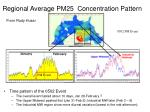 regional average pm25 concentration pattern based on airnow