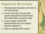 stepped care bh example