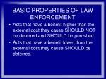 basic properties of law enforcement