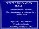 becker s fundamental result