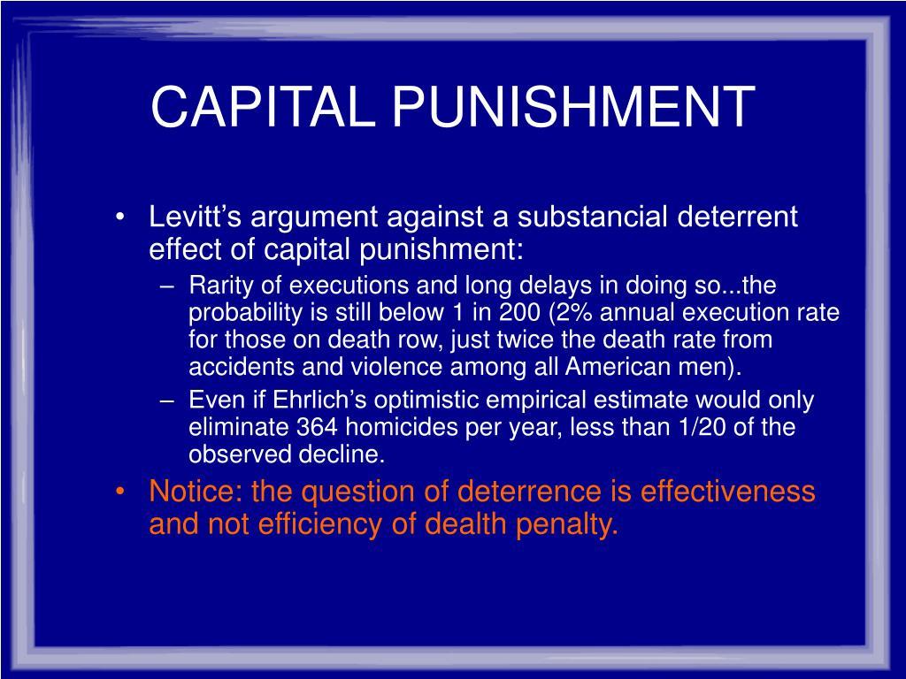 an argument against the capital punishment