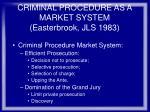 criminal procedure as a market system easterbrook jls 198374