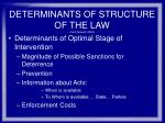 determinants of structure of the law from shavell 2004