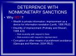 deterrence with nonmonetary sanctions30