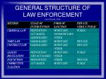 general structure of law enforcement from shavell 2004