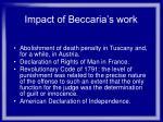 impact of beccaria s work