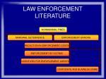 law enforcement literature