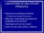 limitations of multiplier principle