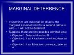 marginal deterrence