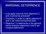 marginal deterrence34