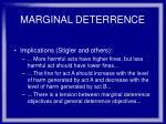 marginal deterrence35