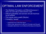optimal law enforcement