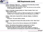 bse requirements cont