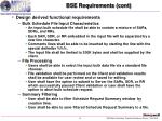 bse requirements cont8