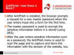 antiphish how does it work