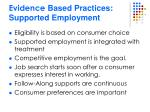 evidence based practices supported employment