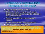 la mancata contrazione perineale riflessa