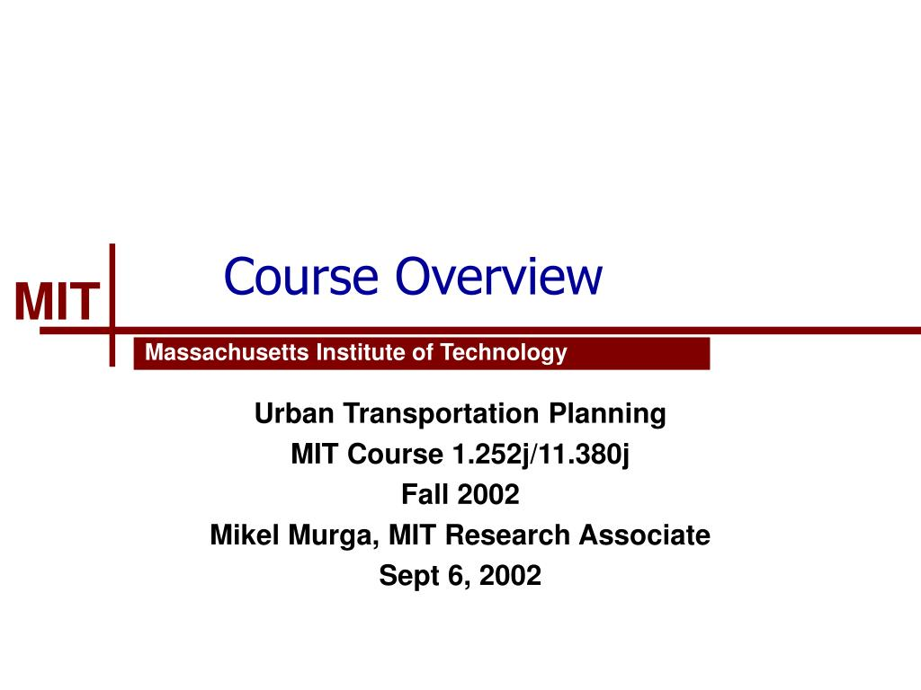 course overview l.