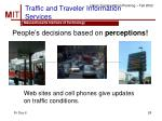 traffic and traveler information services