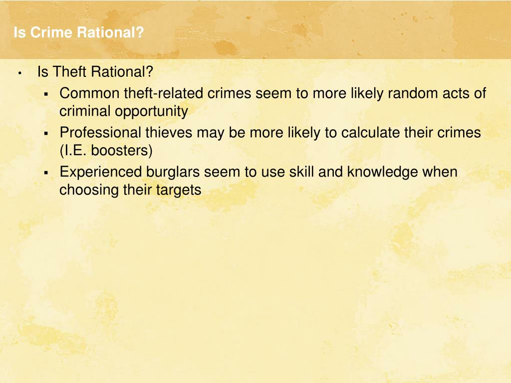 Is Crime Rational?