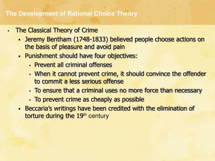 The development of rational choice theory3