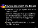 new management challenges