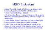 msid exclusions