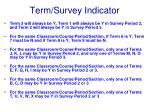 term survey indicator