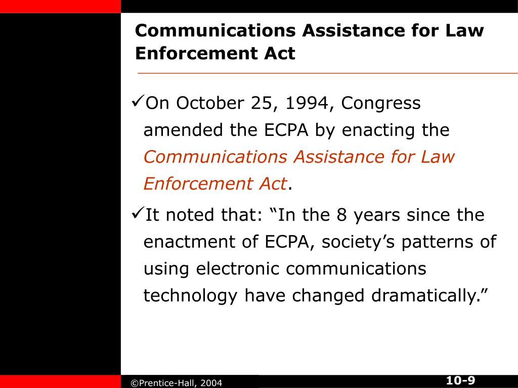 Communications Assistance for Law Enforcement Act