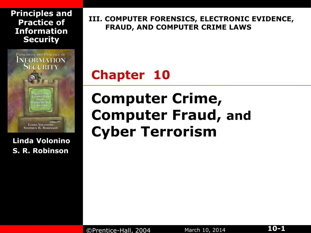 computer crime computer fraud and cyber terrorism l.