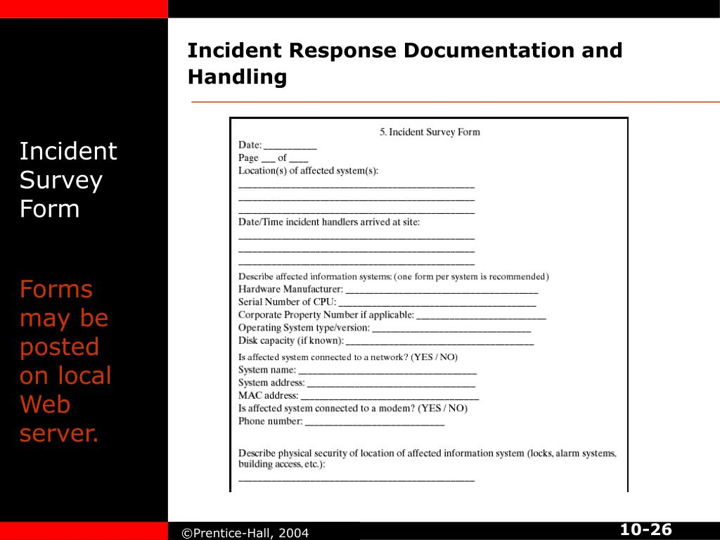 Incident Response Documentation and Handling