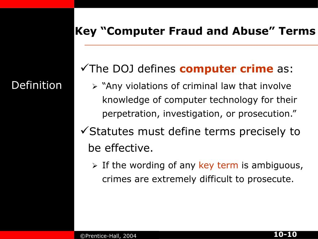 "Key ""Computer Fraud and Abuse"" Terms"
