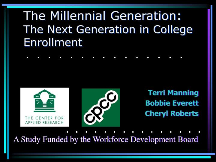 the millennial generation the next generation in college enrollment n.
