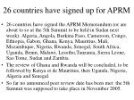 26 countries have signed up for aprm
