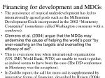 financing for development and mdgs