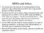 mdgs and africa