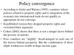 policy convergence