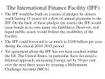 the international finance facility iff