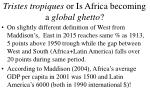 tristes tropiques or is africa becoming a global ghetto