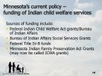 minnesota s current policy funding of indian child welfare services