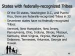 states with federally recognized tribes12