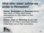 what other states policies are similar to minnesota s