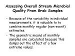assessing overall stream microbial quality from grab samples