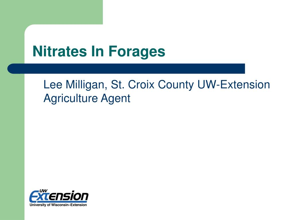 nitrates in forages l.