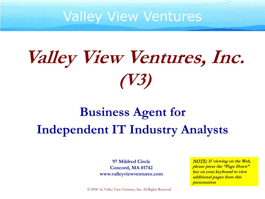 valley view ventures inc v3 l.