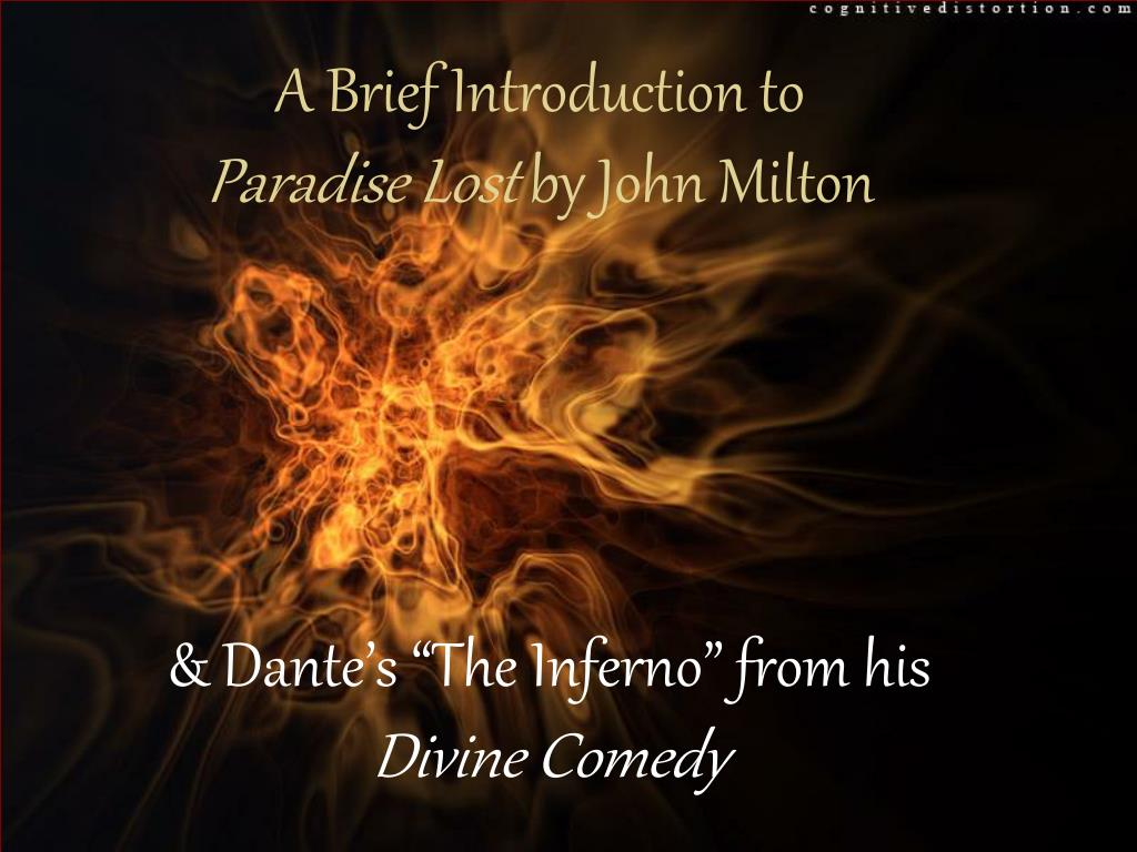 a brief introduction to paradise lost by john milton l.